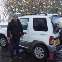 美郷町を無事出発、トラック&軽自動車で1日1000kmを走破!!